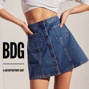 A-Line Button Front Skirt by BDG - Sz. XS